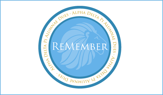 Annual Remember Alumnae Dues Alpha Delta Pi