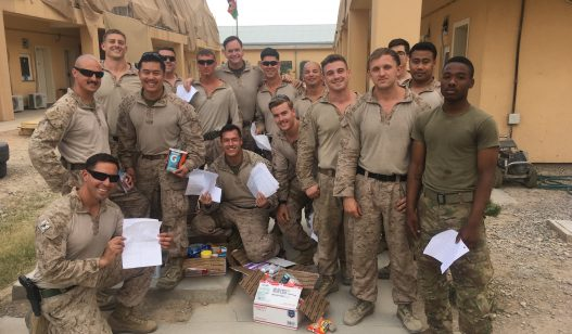 University of Delaware Chapter Brings Smiles to Marines in Afghanistan