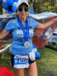 Jennifer at a previous marathon