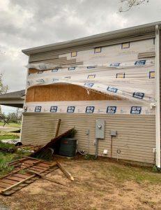 exterior house damage